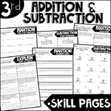Third Grade Skill Pages Addition and Subtraction