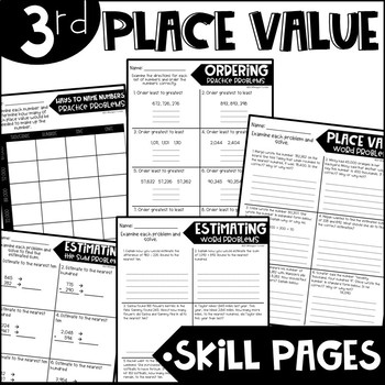 Third Grade Skill Pages Place Value