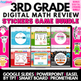 3rd Grade Math Review Game Bundle   Easel Google Slides PowerPoint Smart Board