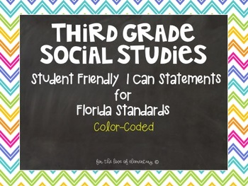 Third Grade Social Studies Standards