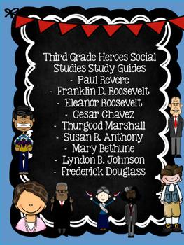 Third Grade Social Studies Study Guides Bundle- Great for Georgia Milestone!