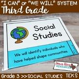 Third Grade Social Studies TEKS I Can Statements