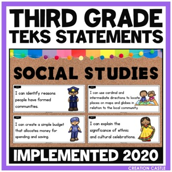 Third Grade Social Studies TEKS - Can and Will Standards S