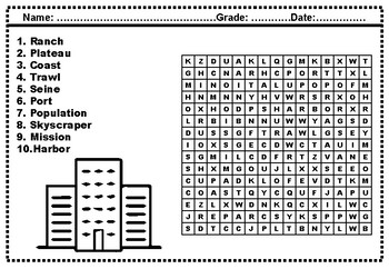 Third Grade Social Studies, Word Search Worksheets by ...