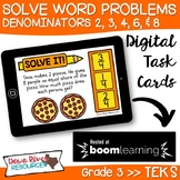 Third Grade Solve Fraction Word Problems Using Pictorial T