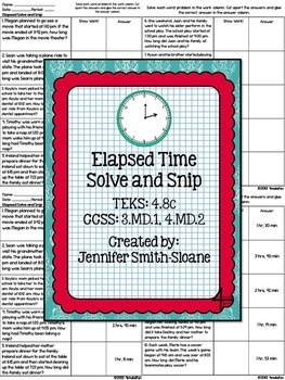 Third Grade Solve and Snips Bundle - Interactive Math Learning