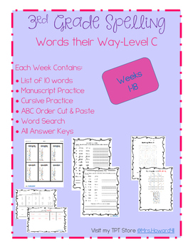 Third Grade Spelling- Weeks 1-18