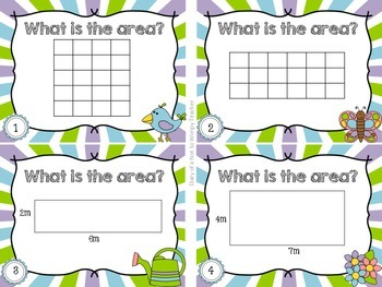 Third Grade Spiral Math Task Cards for April