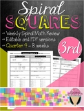 Third Grade Spiral Review Homework Squares - Quarter 4