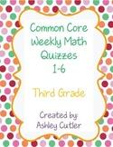 Third Grade Spiral Review Weekly Math Quizzes