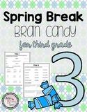 Third Grade Spring Break Packet