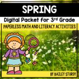 Third Grade Spring Math and Literacy Digital Packet