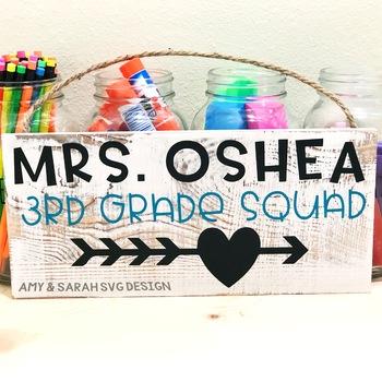 Third Grade Squad SVG Design