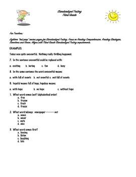 Third Grade Standardized Testing Prep