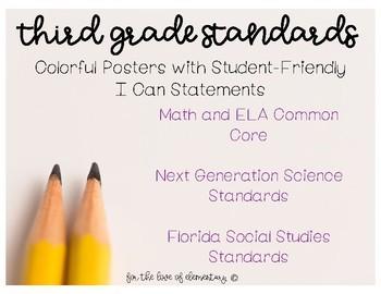 Third Grade Standards Bundle