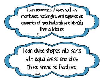Third Grade Standards Signs