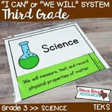 Third Grade Streamlined Science TEKS I Can Statements