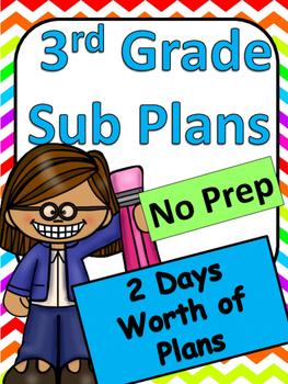 Third Grade Substitute Plans