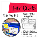 Third Grade Sub Tub 1 (Full Day of Plans. No Prep)