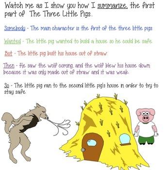 Third Grade Summarizing Lesson