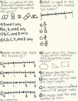 Third Grade Summative Math Test