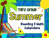 Third Grade Summer Learning Packet with June & July 2015 Calendars