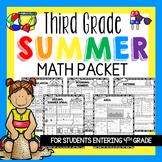 Third Grade Summer Math Packet & Math Review