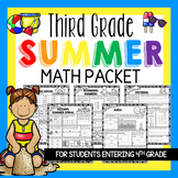 Third Grade Summer Math Packet & Math Review