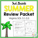 Third Grade Summer Math Review Packet (SOL 3.1, 3.2, 3.3,