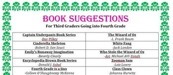 Third Grade Summer Reading