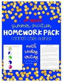 Third Grade Summer Vacation Homework Pack