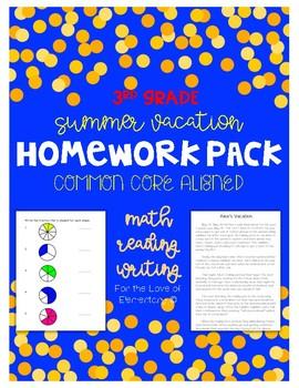 summer vacation homework