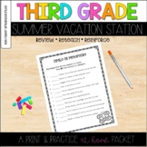 Third Grade Summer Review  Distance Learning Work Packet