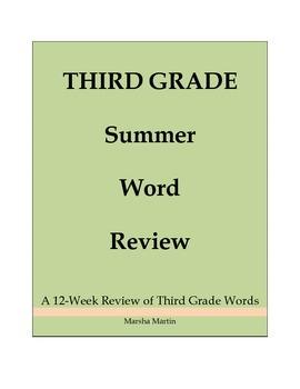 Third Grade Summer Word Review