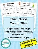 Third Grade Superhero Tap-It Tiles: Sight Word and High Fr