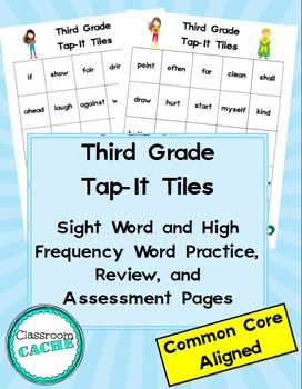 Third Grade Superhero Tap-It Tiles: Sight Word and High Fr