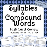 Third Grade Syllable and Compound Word Task Cards