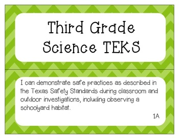 """Third Grade TEKS """"I Can"""" Statement Posters"""