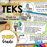 Third Grade TEKS Bundle - Illustrated and Organized Objectives Cards