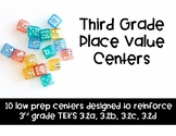 Third Grade TEKS-based Place Value Centers
