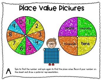 Third Grade TEKS-based Place Value Centers