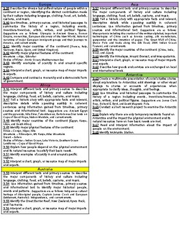 Third Grade TN Social Studies Standards Reference Sheet
