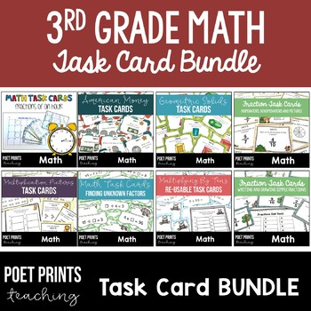 Third Grade Task Card BUNDLE