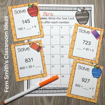 3rd Grade Go Math Chapter 1 Addition & Subtraction Within 1,000 Task Card Bundle