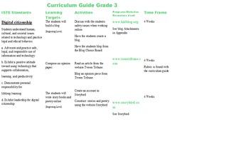 Third Grade Technology Curriculum Guide