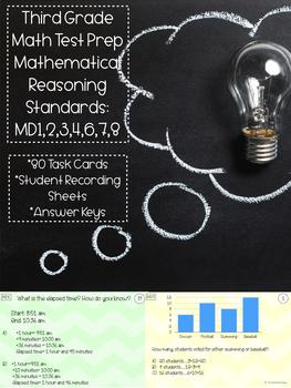 Third Grade Test Prep: Mathematical Reasoning (MD1,2,3,4,6,7,8)