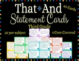 Third Grade That/And Statement Cards