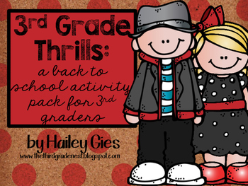Third Grade Thrills: A Beginning of the Year Activity Packet for 3rd Grade