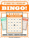 Third Grade Tier 2 Vocabulary Bingo