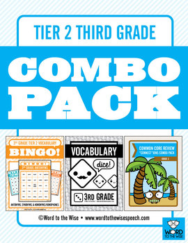 Third Grade Tier 2 Vocabulary Combo Pack